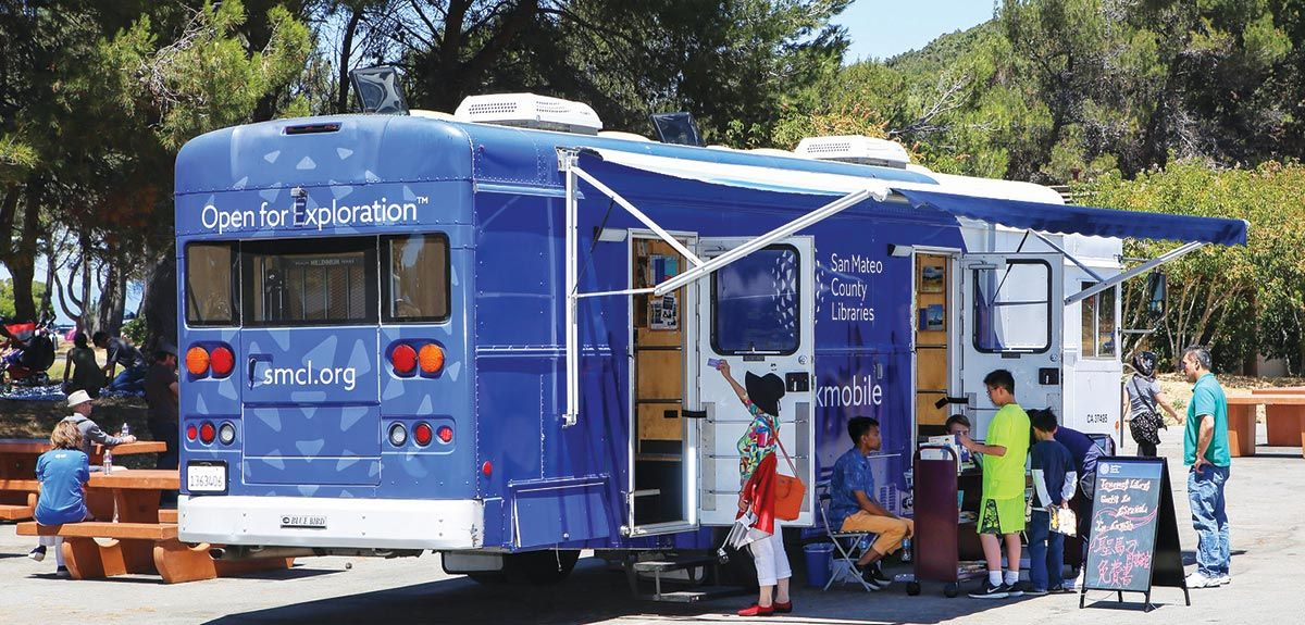 San Mateo County Libraries mobile bookmobile